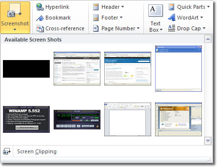 screenshot-in-word-2010