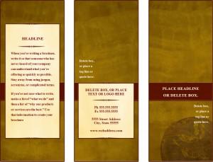 Tri Fold Brochure Background Image