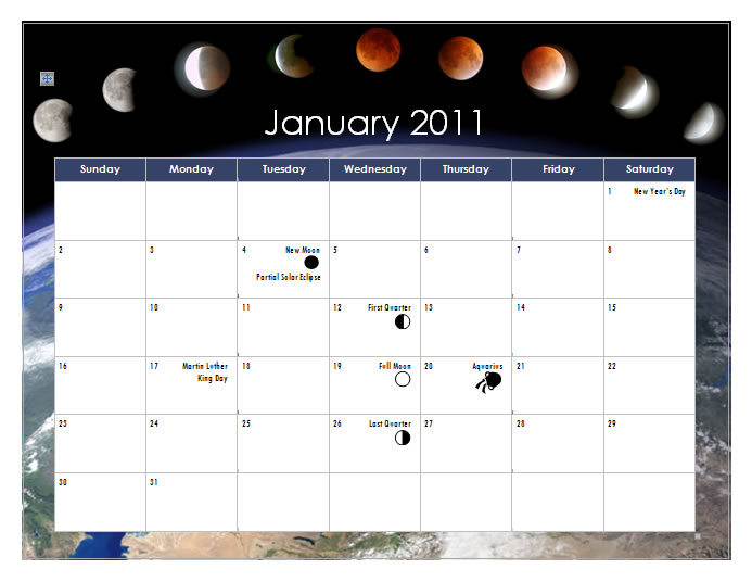 Create a 2011 Calendar In Word 2010